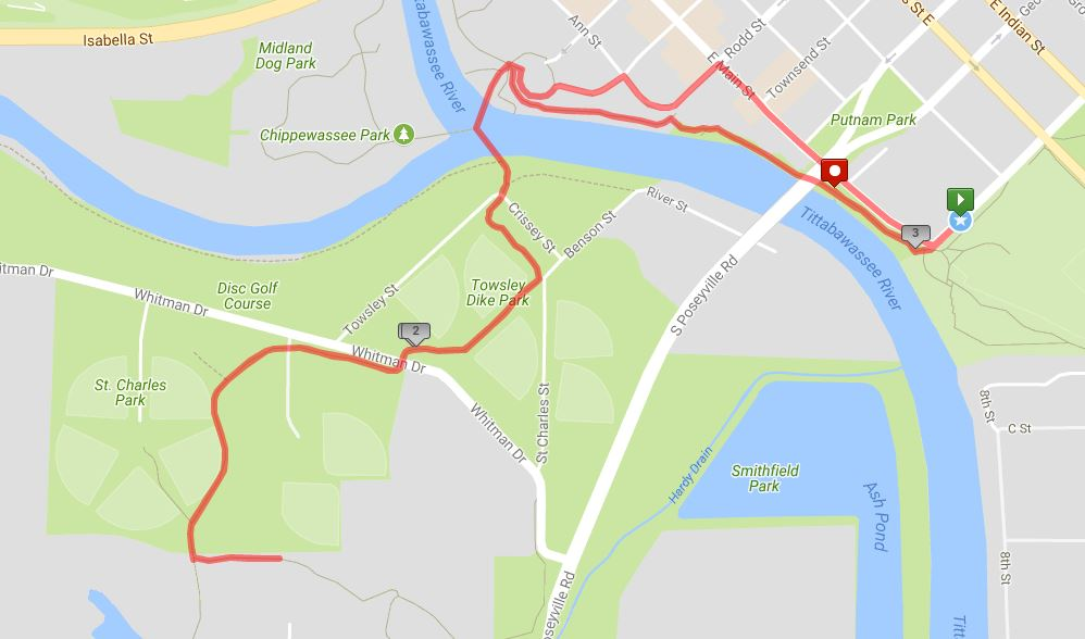 View Loons Race Route at  http://www.mapmyrun.com/routes/view/1912867193