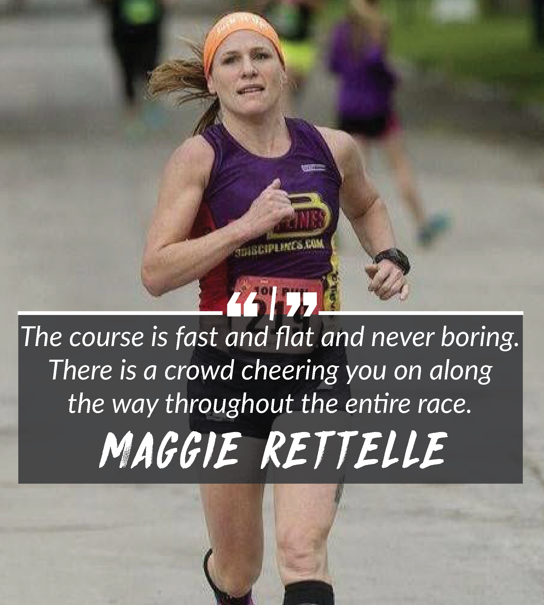 Competitive runner Maggie Rettelle has earned top honors in the 10K at the Dow RunWalk.