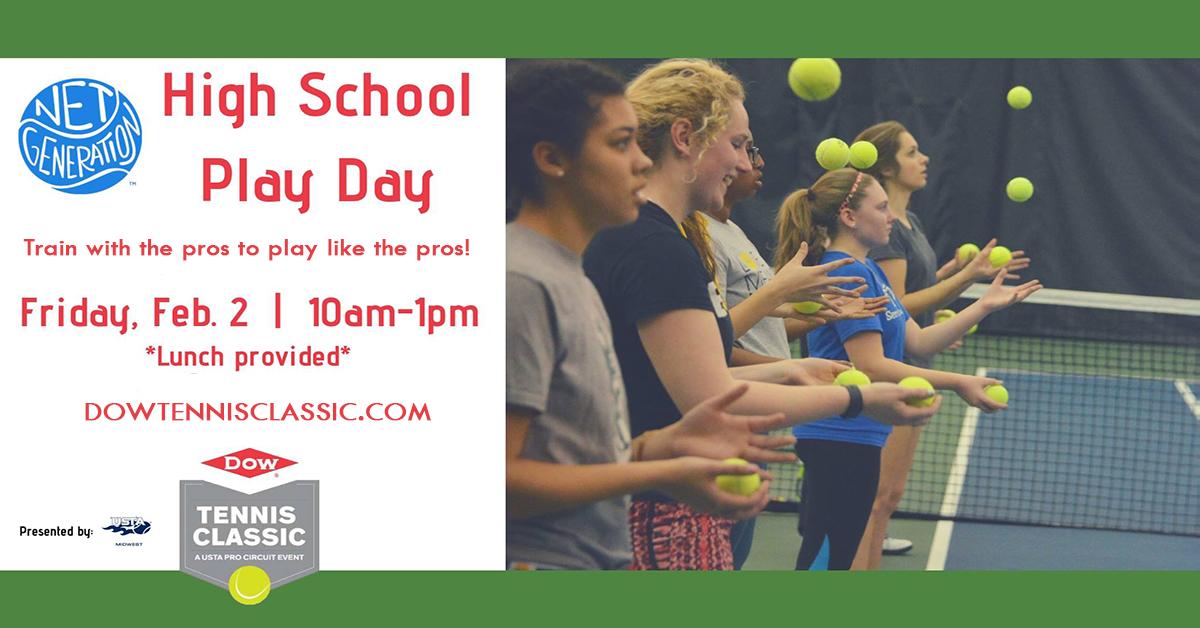 Dow Tennis Classic - High School Play Day