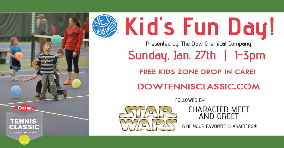 Dow Tennis Classic - Net Generation Kid's Fun Day
