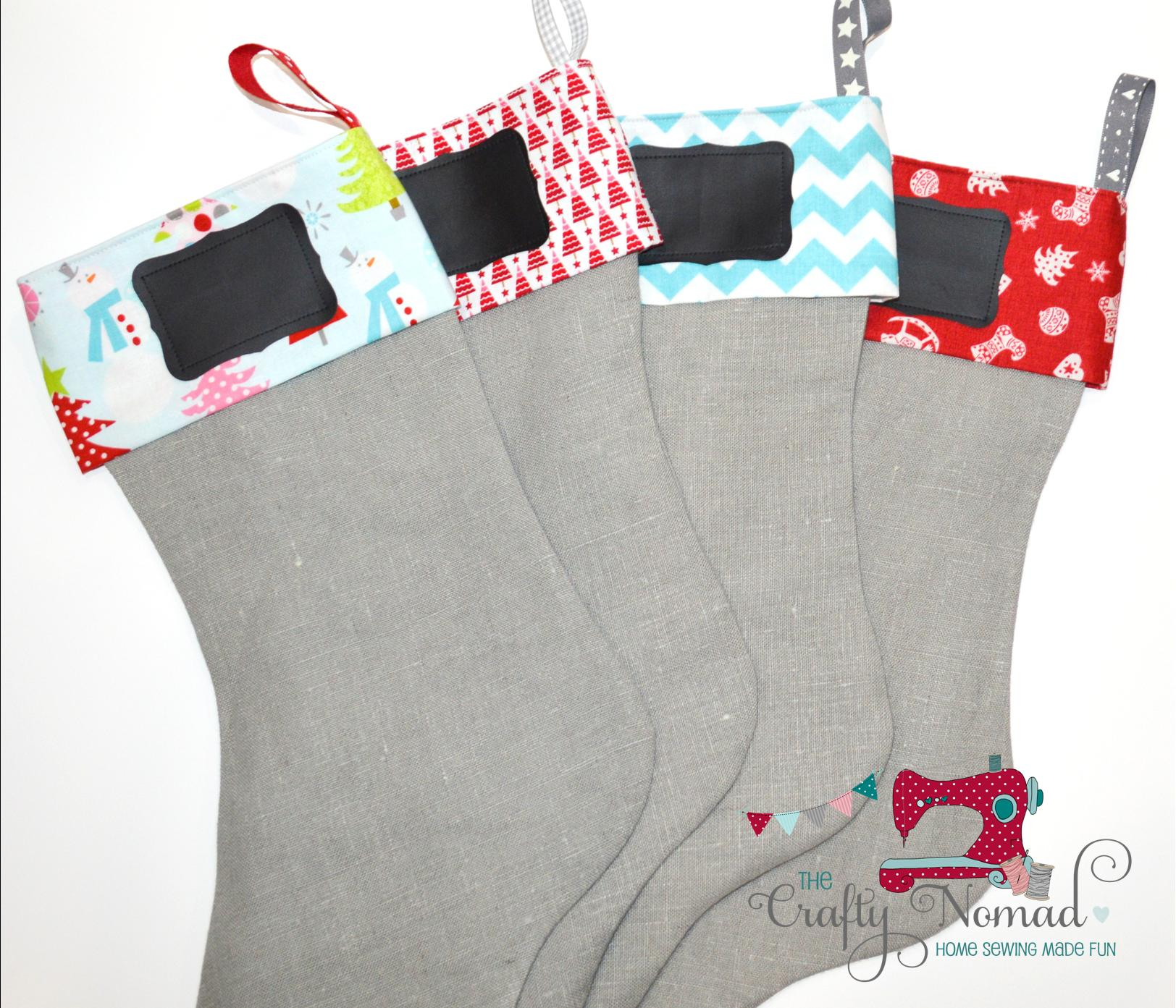 Christmas Stockings Chalkcloth