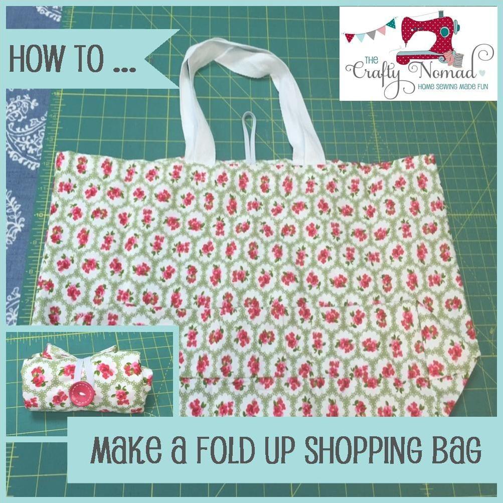 Fold Up Shopping Bag Tutorial