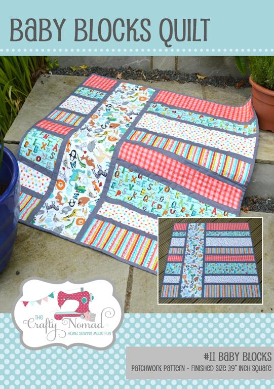 The Crafty Nomad Baby Blocks Quilt Pattern