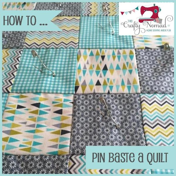 How to Pin Baste a Quilt