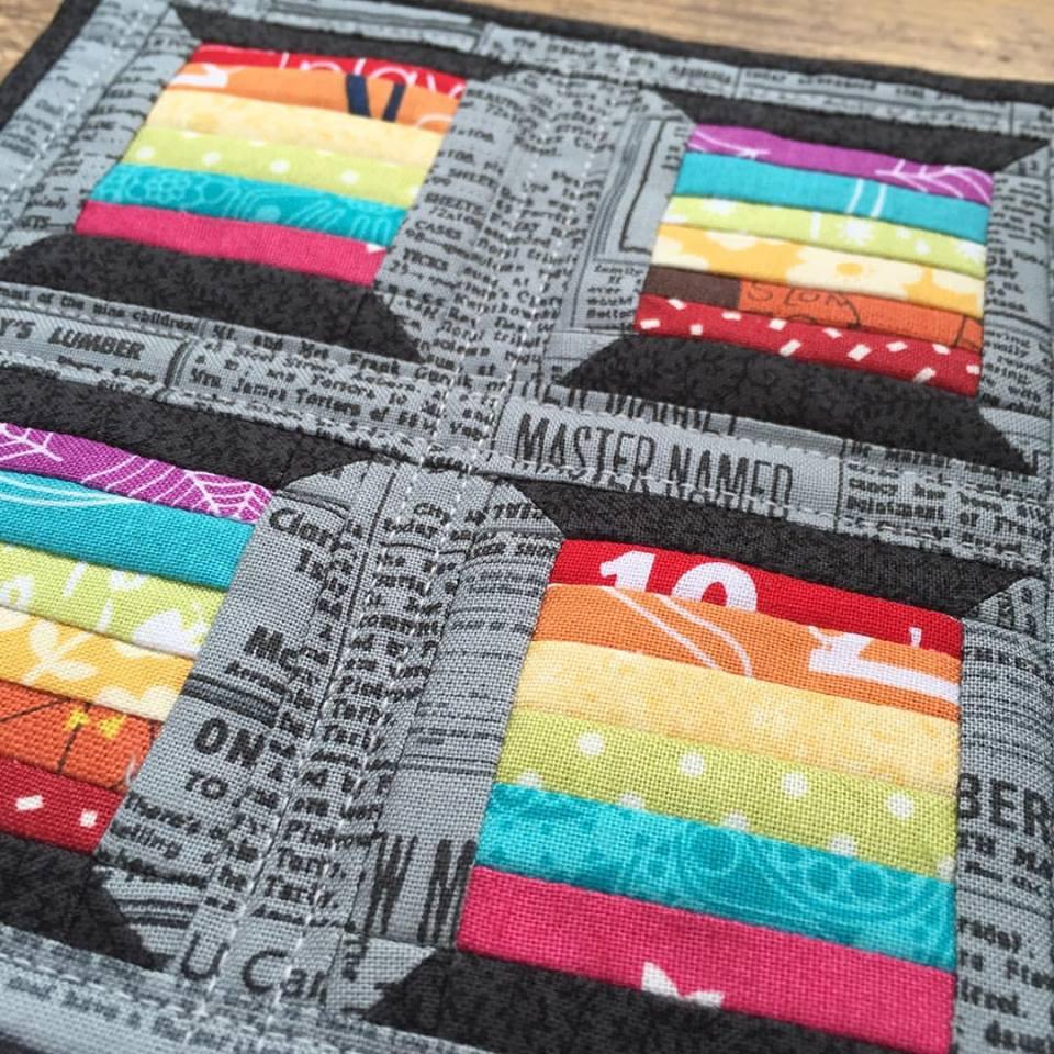 Rainbow Spools Mini Mini Quilt by The Crafty Nomad