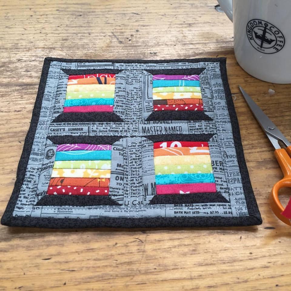 Rainbow Spools Mini Mini Quilt The Crafty Nomad