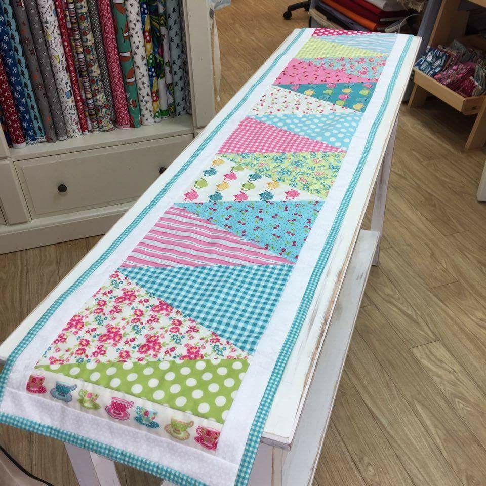 The Crafty Nomad Table Runner Makower Bunting Panel