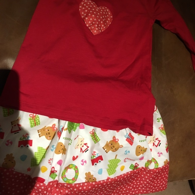 Jo P's Christmas Skirt & t-shirt