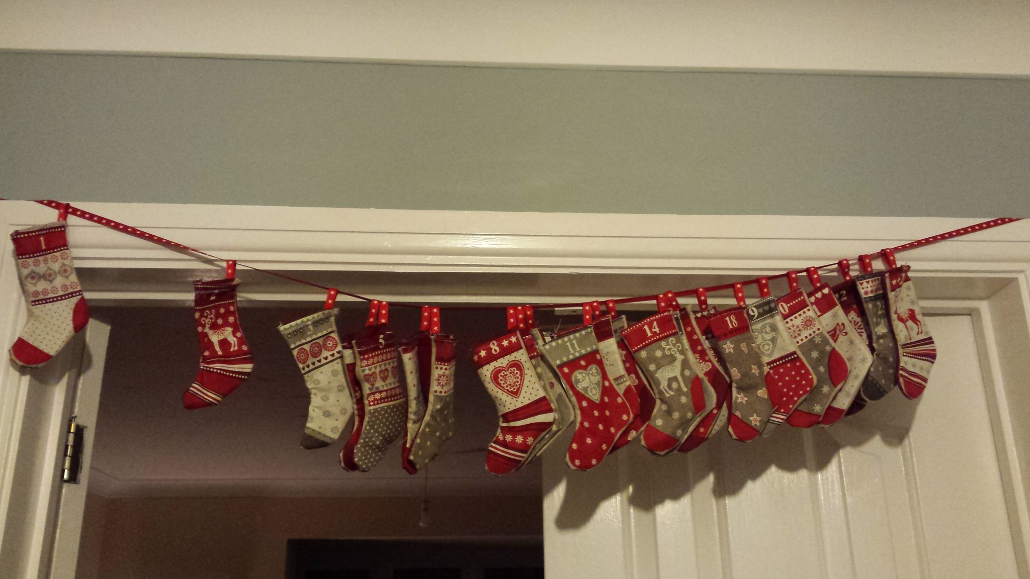 Danni's Advent Garland