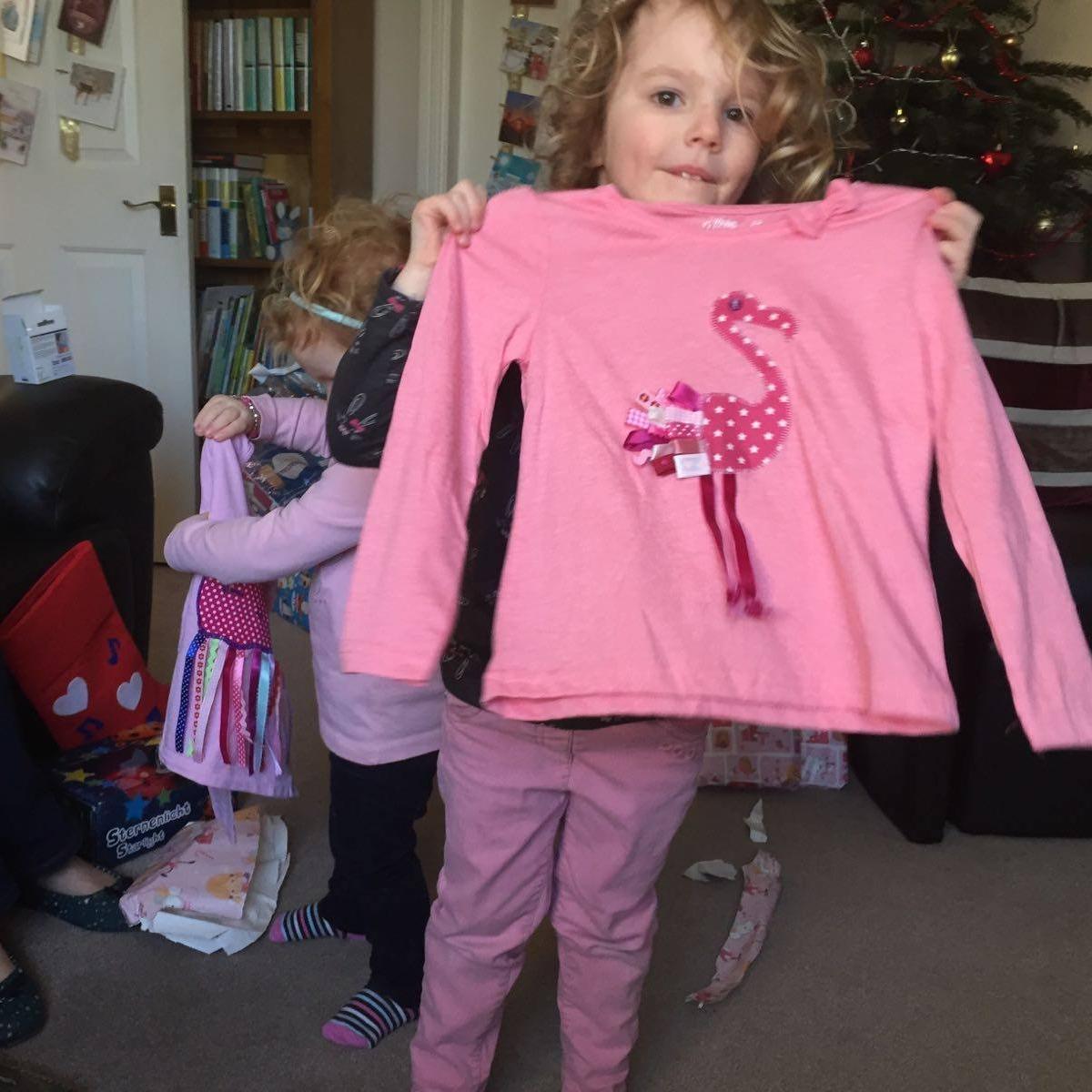 Cath's Flamingo Applique Tshirt