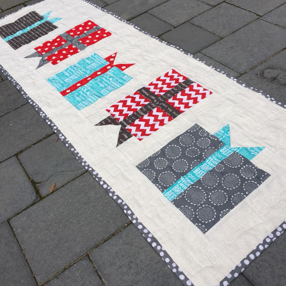 Birthday Gifts Galore Patchwork Quilt Table Runner The Crafty Nomad Be sure to click to find out more  AVAILABLE NOW www.thecraftynomad.co.uk Lots of other patterns and FREE tutorials!