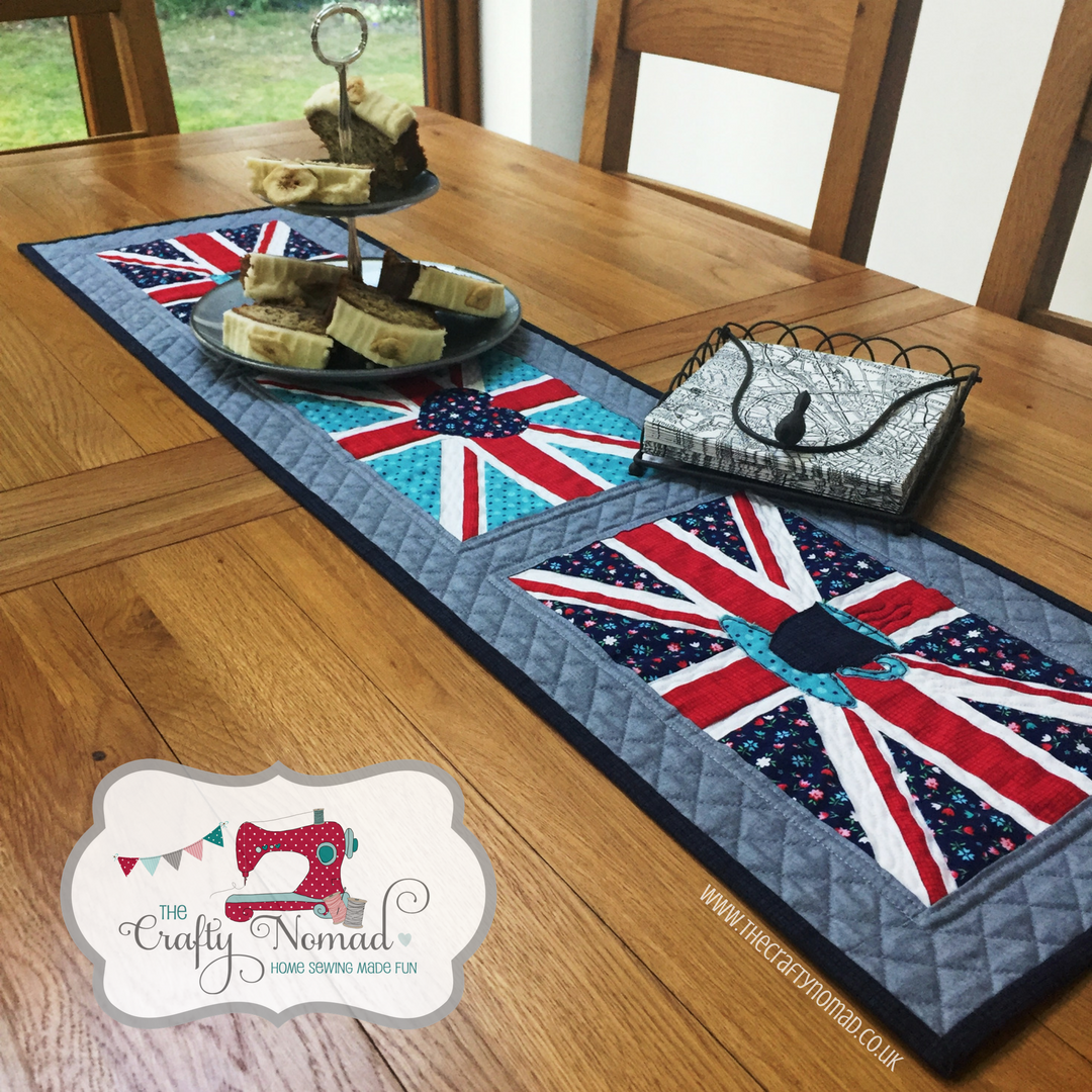Union Jack Table Runner Pattern by The Crafty Nomad AVAILABLE NOW www.thecraftynomad.co.uk Lots of other patterns and FREE tutorials!