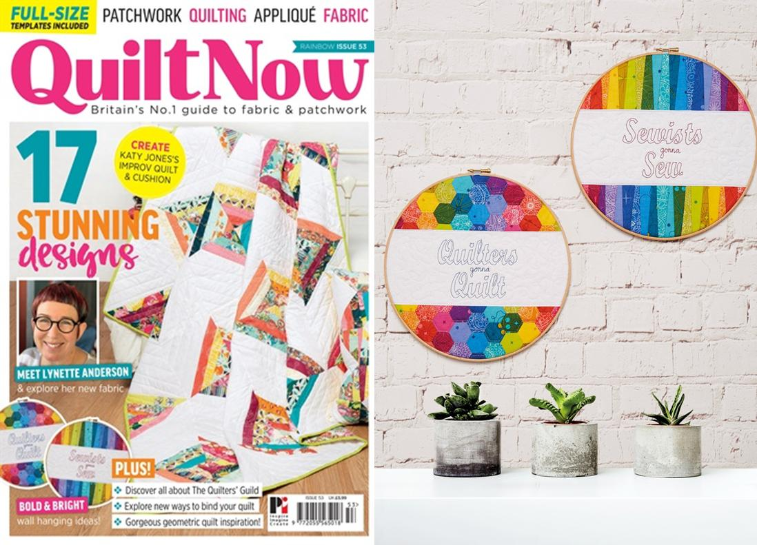 Rainbow Hoops - Quilt Now Issue 53 - August 2018 - Photo Credit to Quilt Now