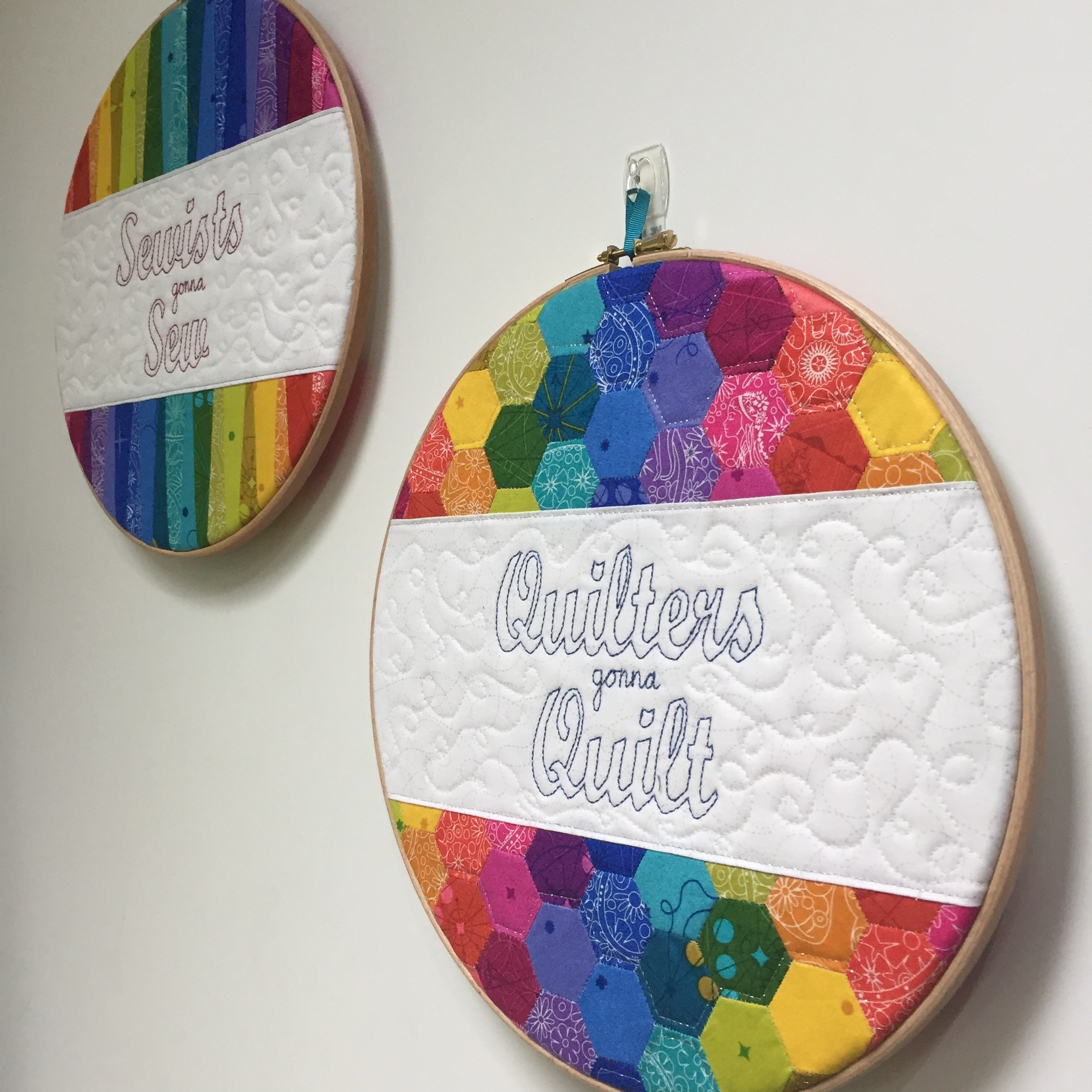 Rainbow Hoop Art Sewing Room Decor Jo Westfoot