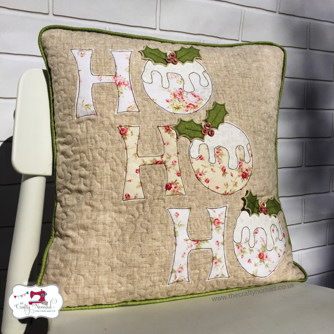 HoHoHo Cushion The Crafty Nomad vintage