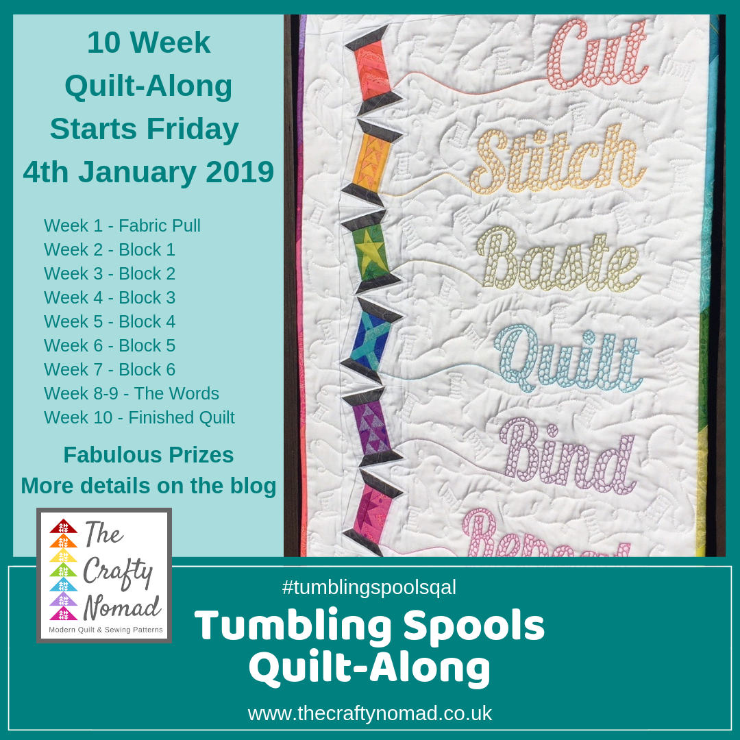 Schedule Tumbling Spools Quiltalong The Crafty Nomad