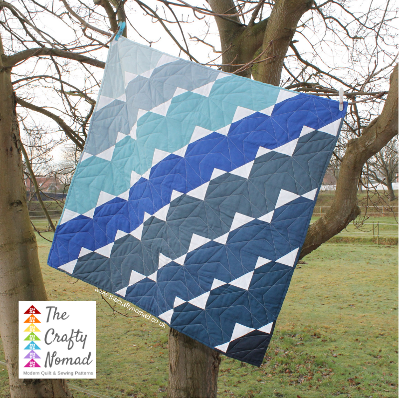 Break out the bunting Quilt pattern ombre version by Martine Tanis for The Crafty Nomad