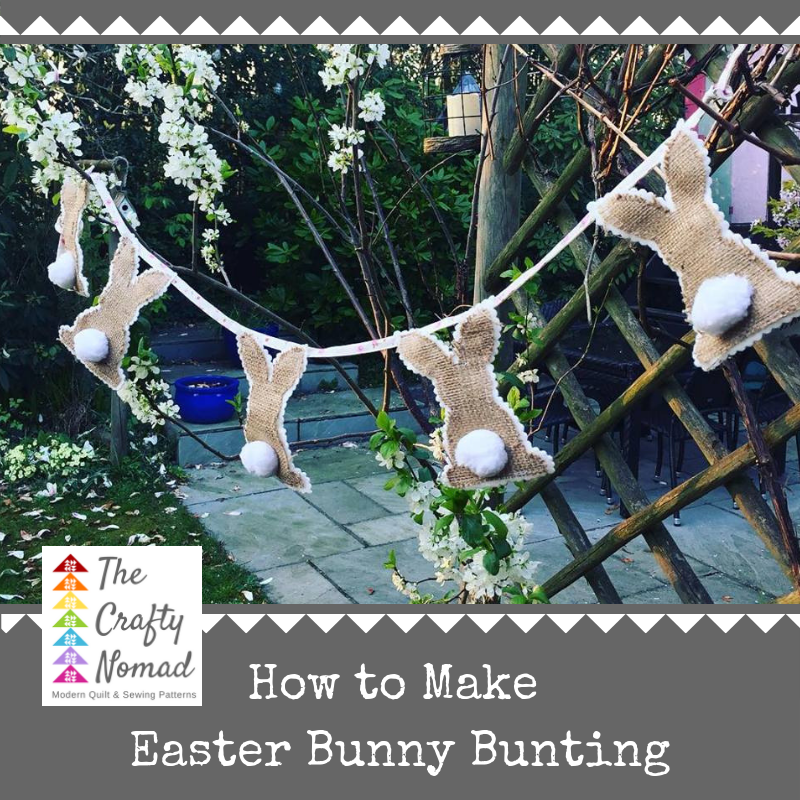How to make Easter Bunny Bunting garland by The Crafty Nomad