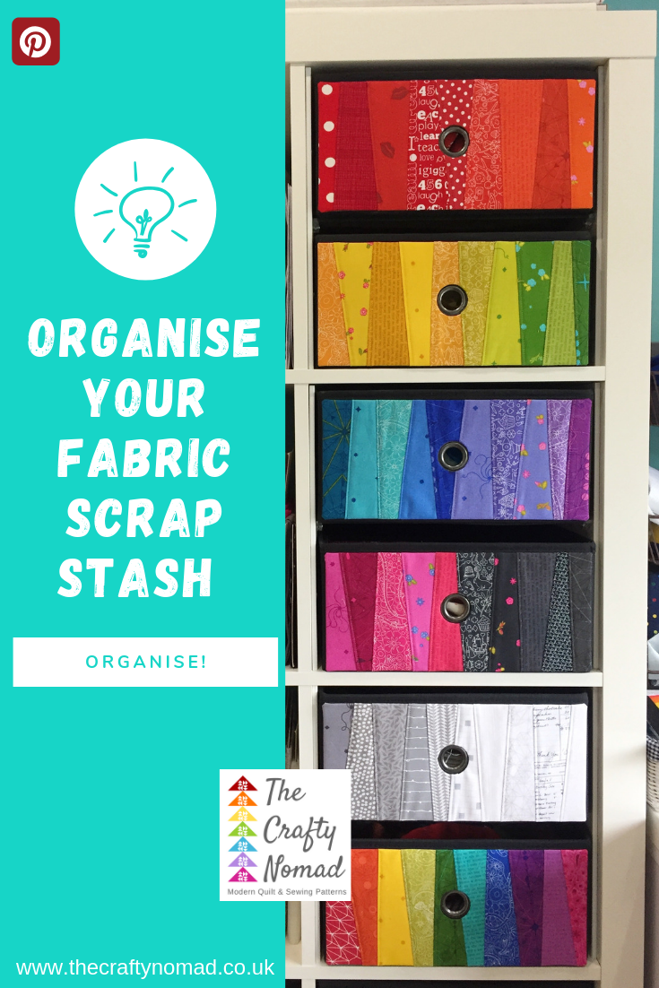 Organise your fabric scrap stash The Crafty Nomad.png