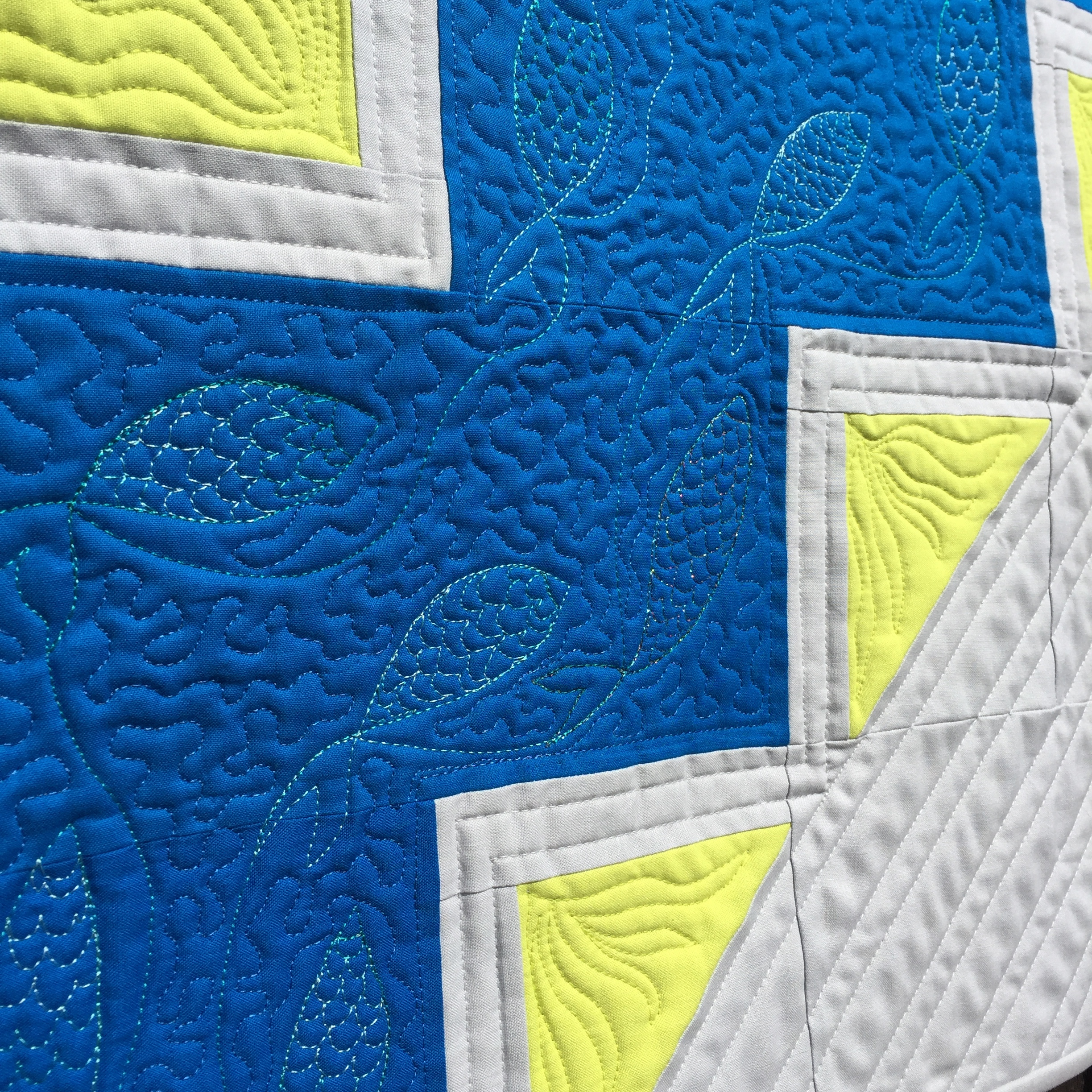 Baby Quilt The Crafty Nomad fish quilting