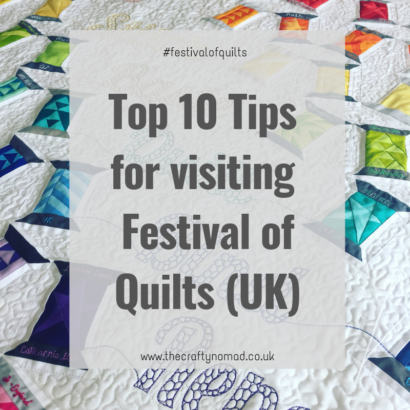 The Crafty Nomad Festival of Quilts Top Ten by Jo Westfoot