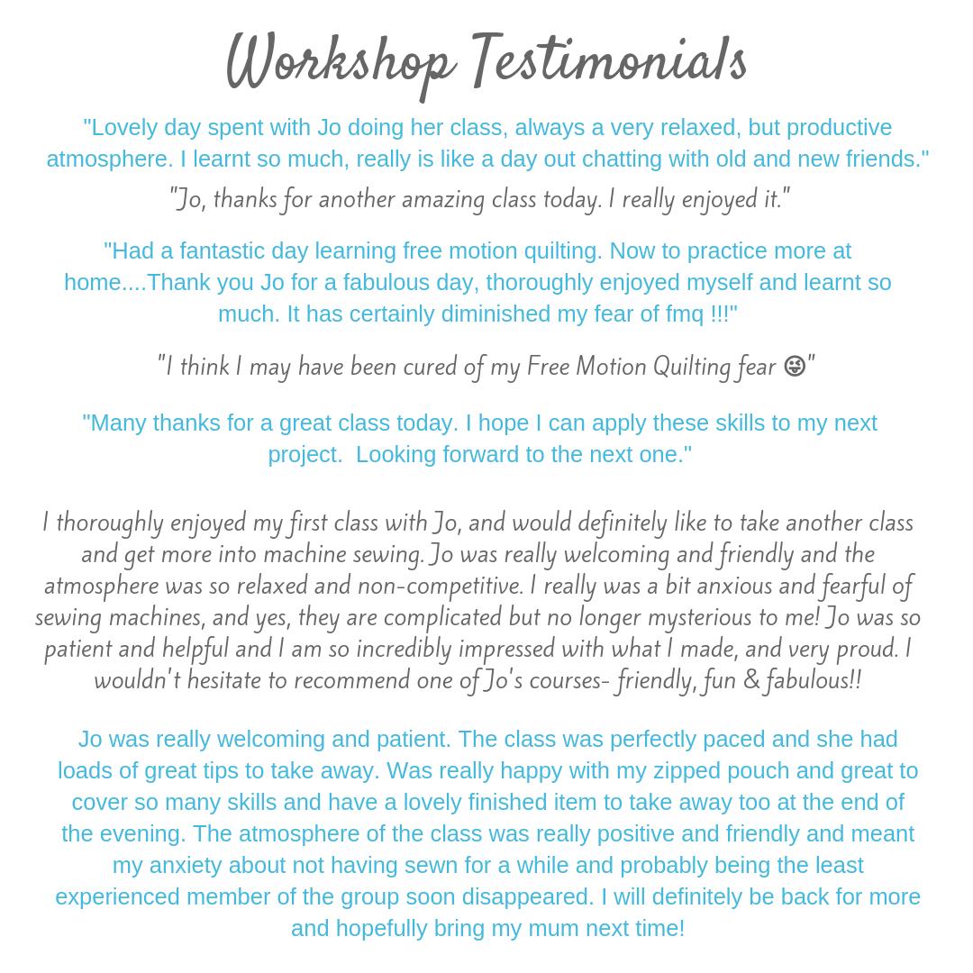 The Crafty Nomad Workshop Testimonials