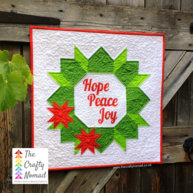 Christmas Joy Wreath Mini Quilt The Crafty Nomad