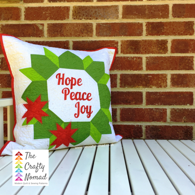 Christmas Joy Wreath Cushion The Crafty Nomad Pattern