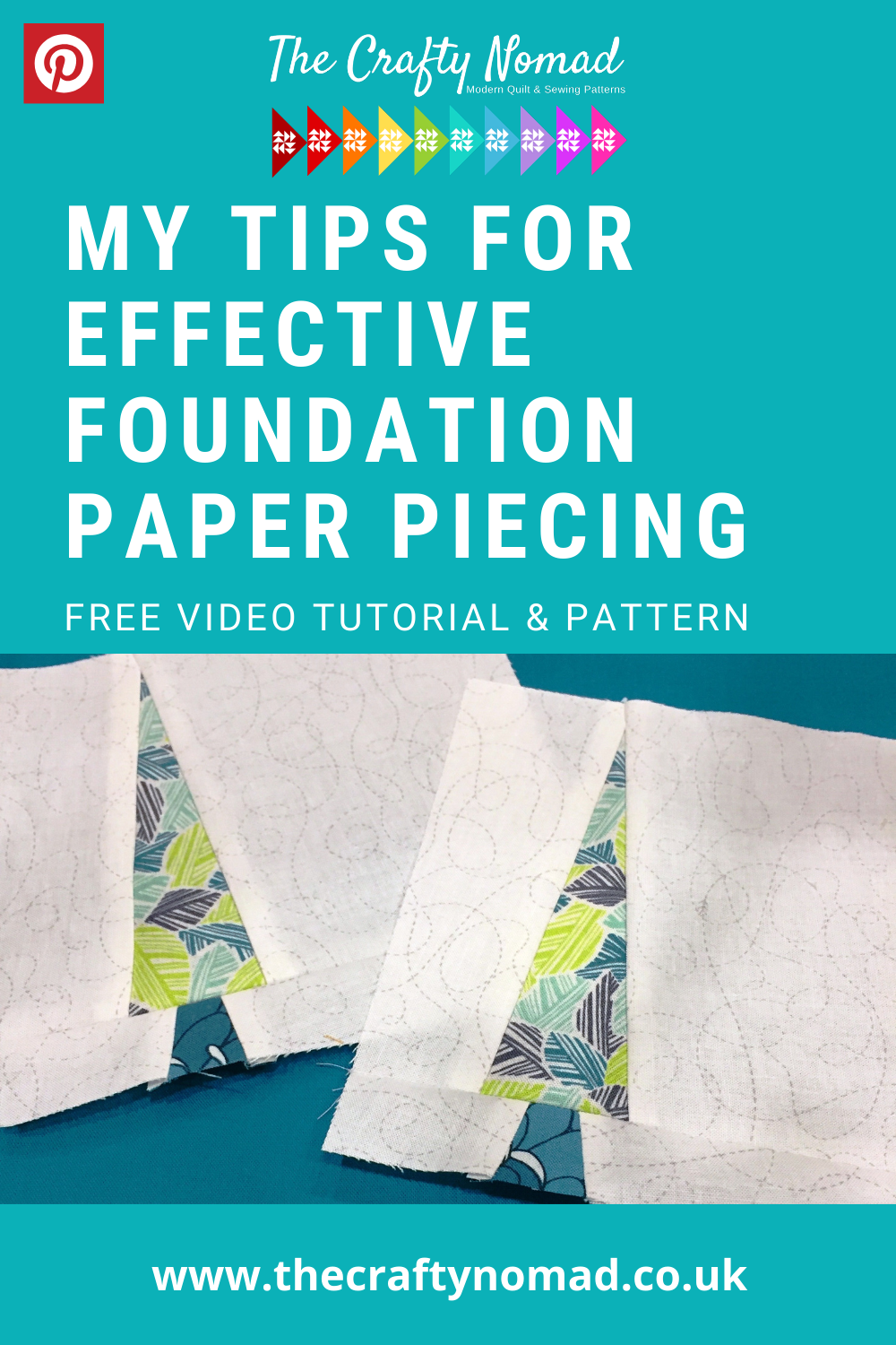 Simple Tree Free Foundation Paper Piece Pattern Video Tutorial The Crafty Nomad Sewing Classes Quilt Patterns