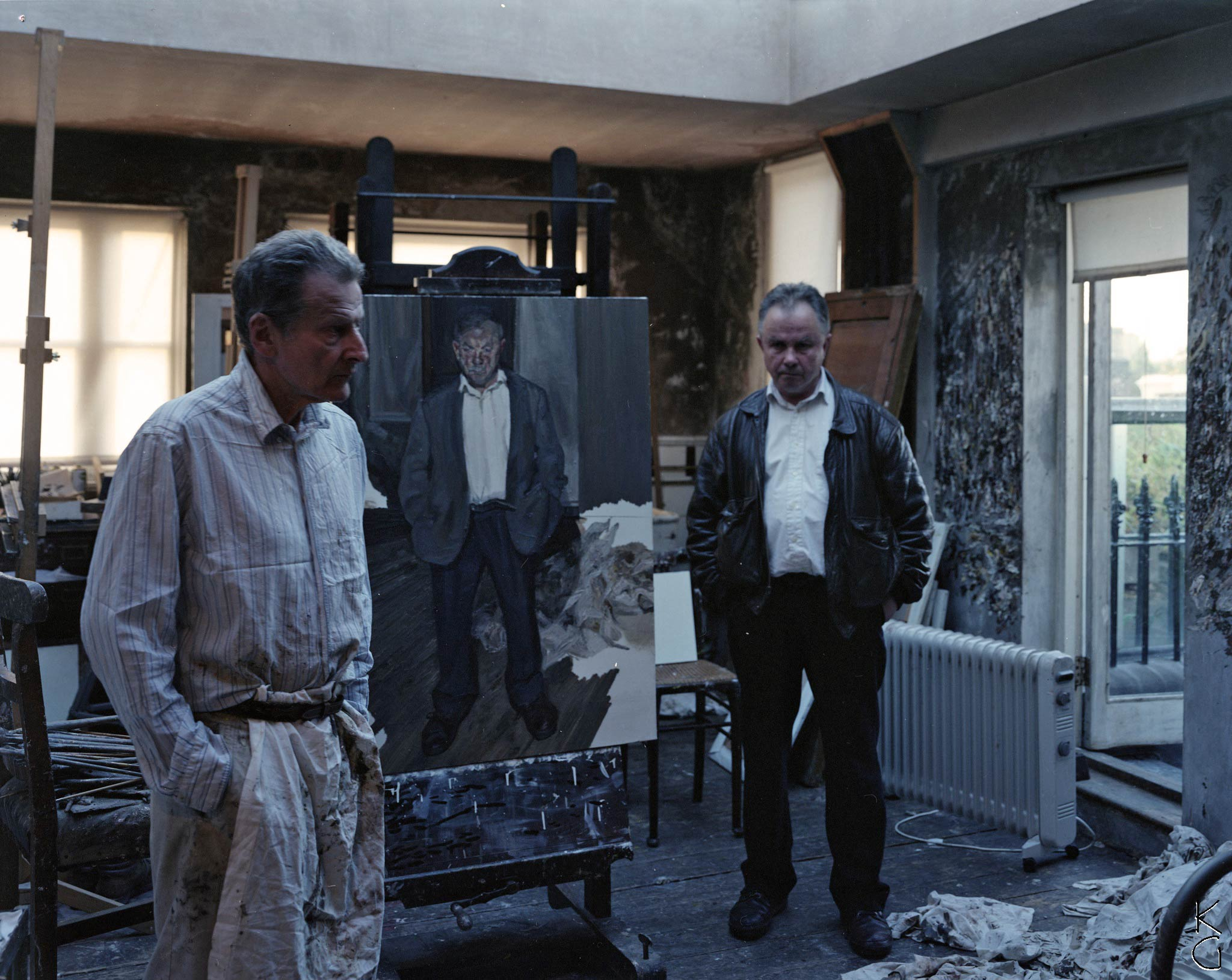 Photograph of Lucian Freud and Bruce Bernard, by Ken Griffiths