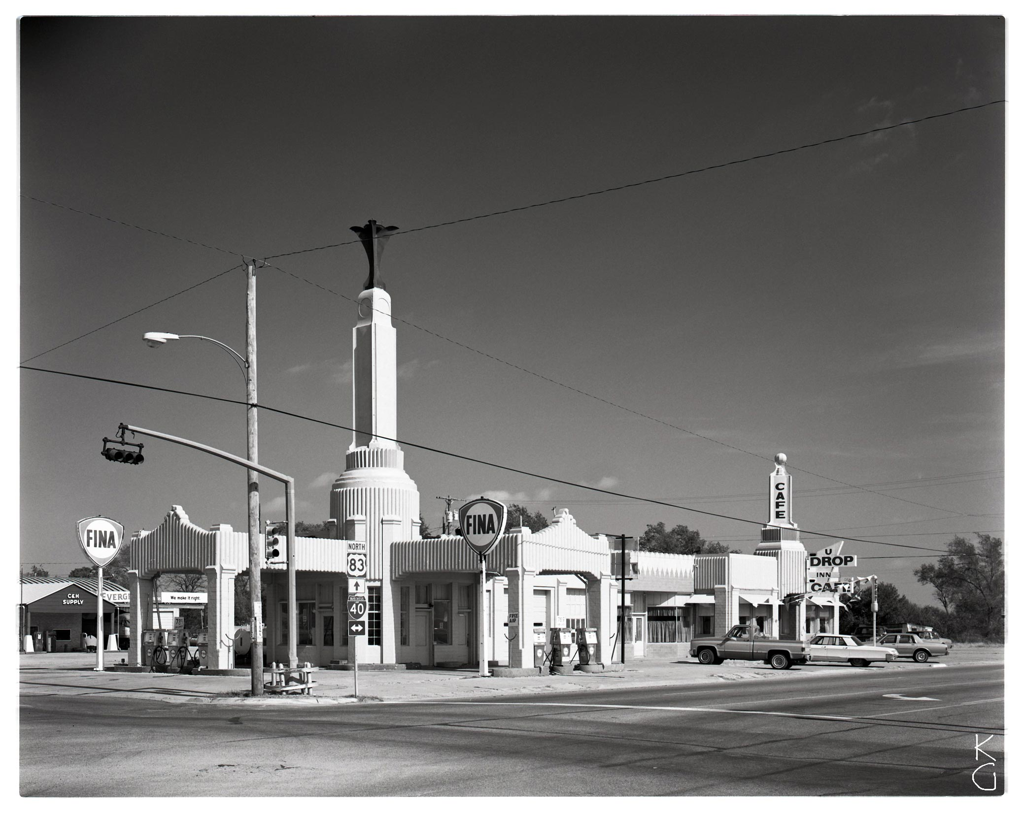 Fina Gas Station, The Panhandle 1987