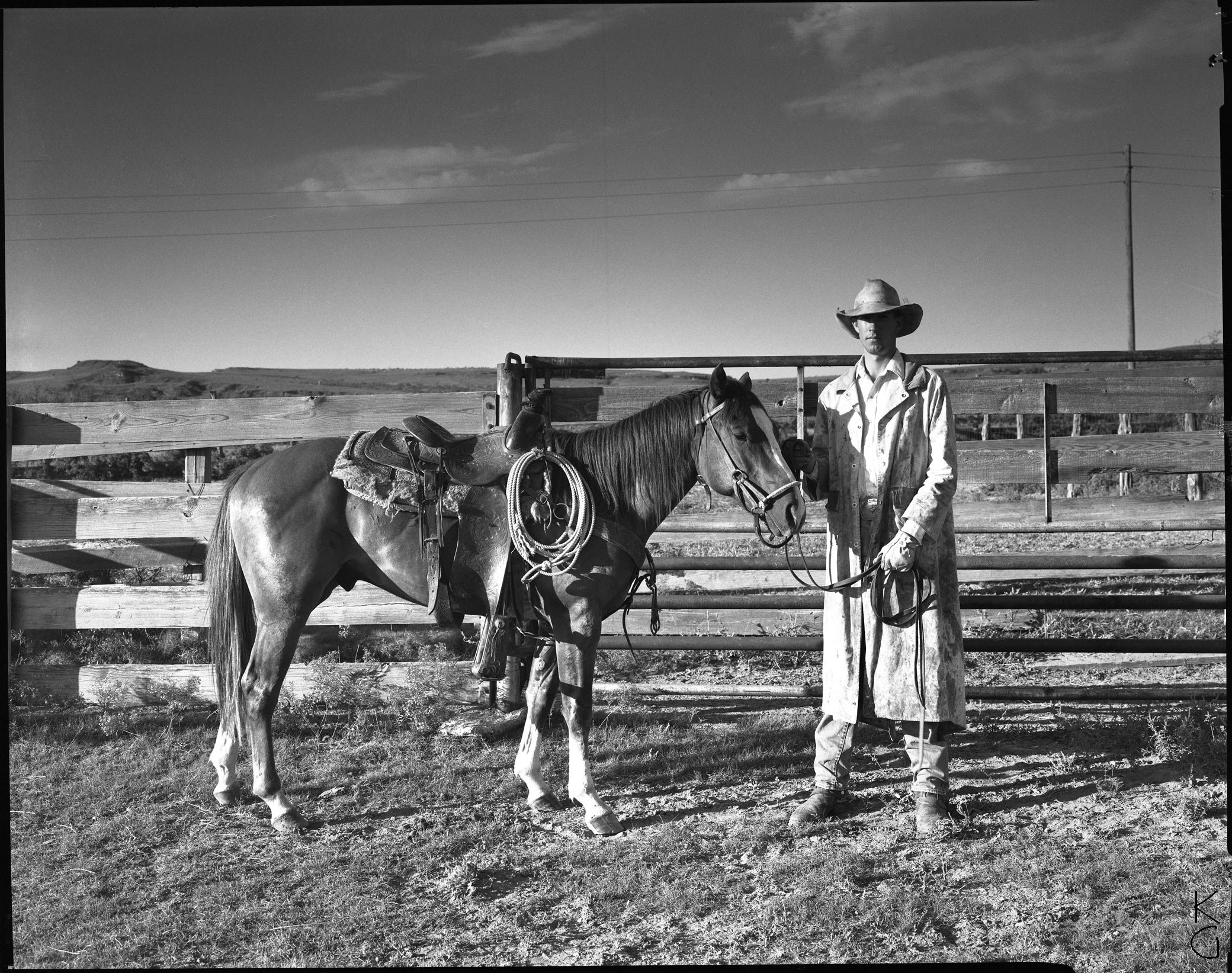 Cowboy and Horse, The Panhandle 1987