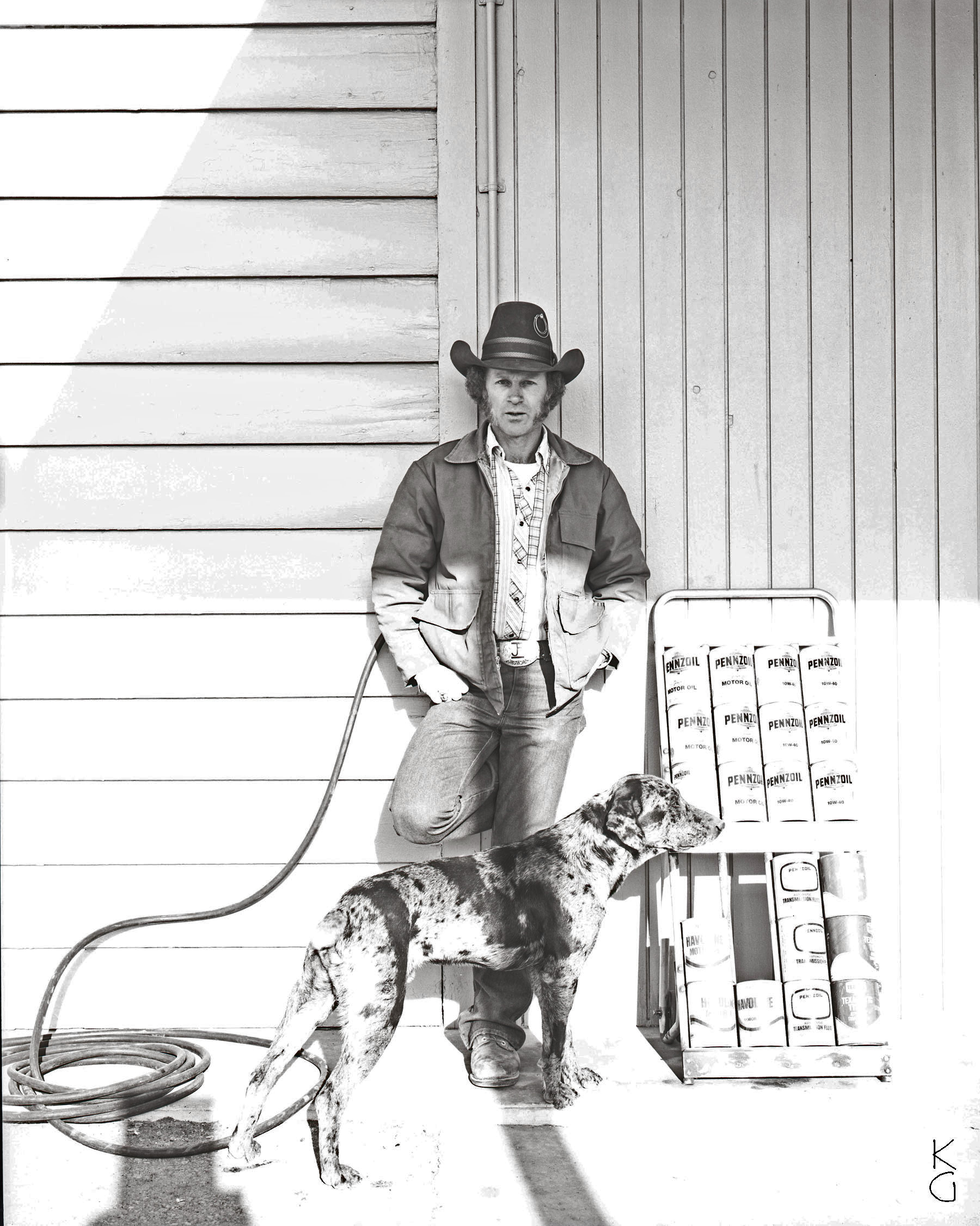 Cowboy and Dog, The Panhandle 1987