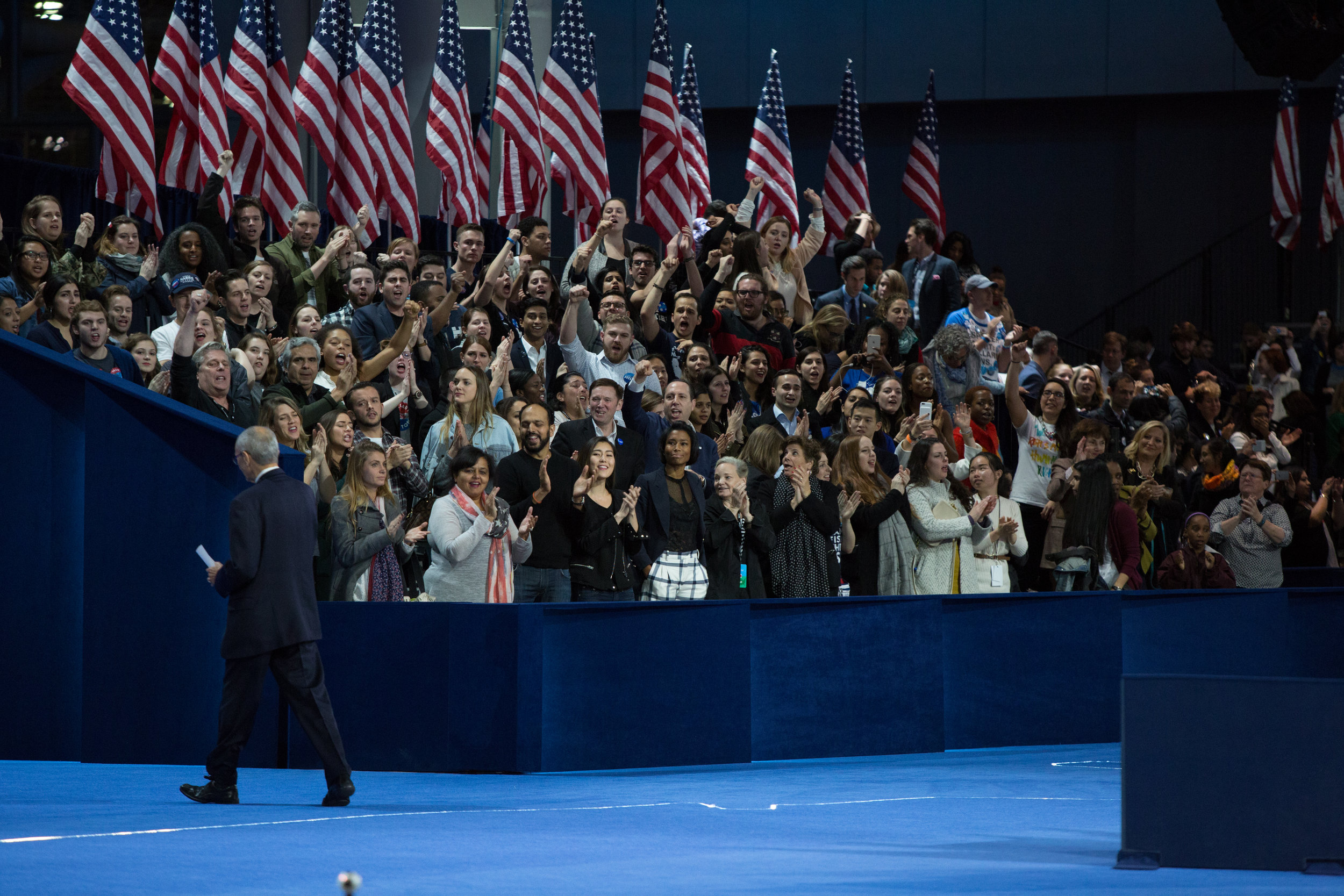 Clinton Campaign Chairman John Podesta Exits The Stage