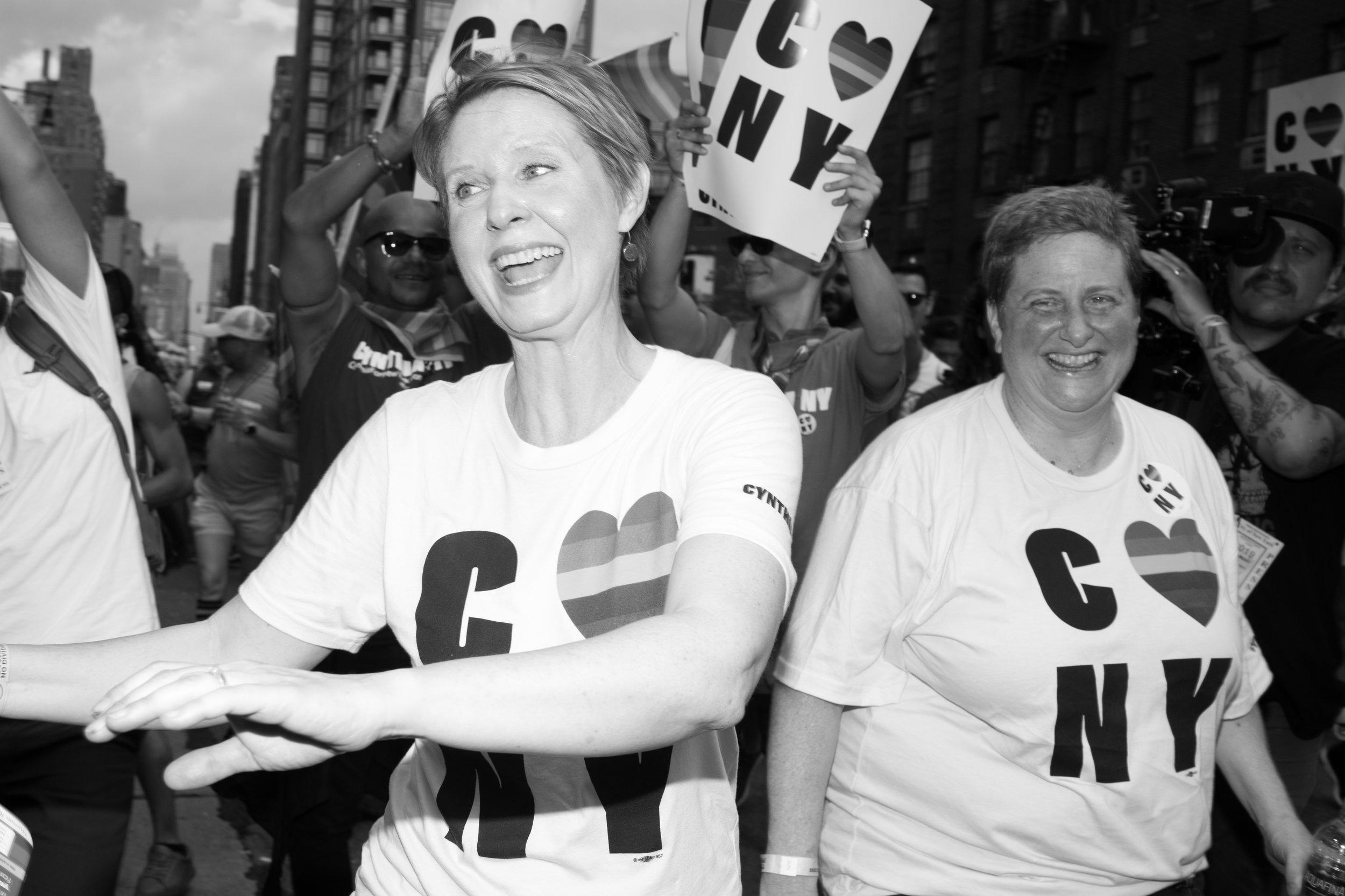 Cynthia Nixon Marches In the 2018 Pride Parade