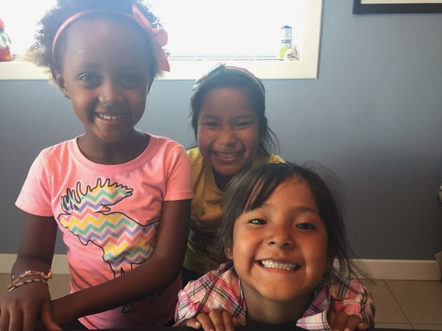 This picture brings such a smile to my face AND tears to my eyes. These three little rascals (Ayantu, Valeria and Teresa)are classmates, playmates and best of friends. All of the children miss Teresa and are praying for her to quickly and safely return home to us!