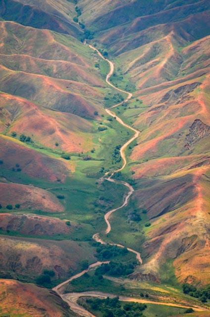 A fluvial valley carving through Madagascar's highlands. Photo: Alizé Carrère