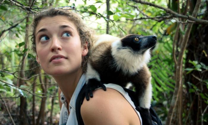 Black-and-white ruffed lemur, Madagascar 2013. Photo  ©  Sally Gee