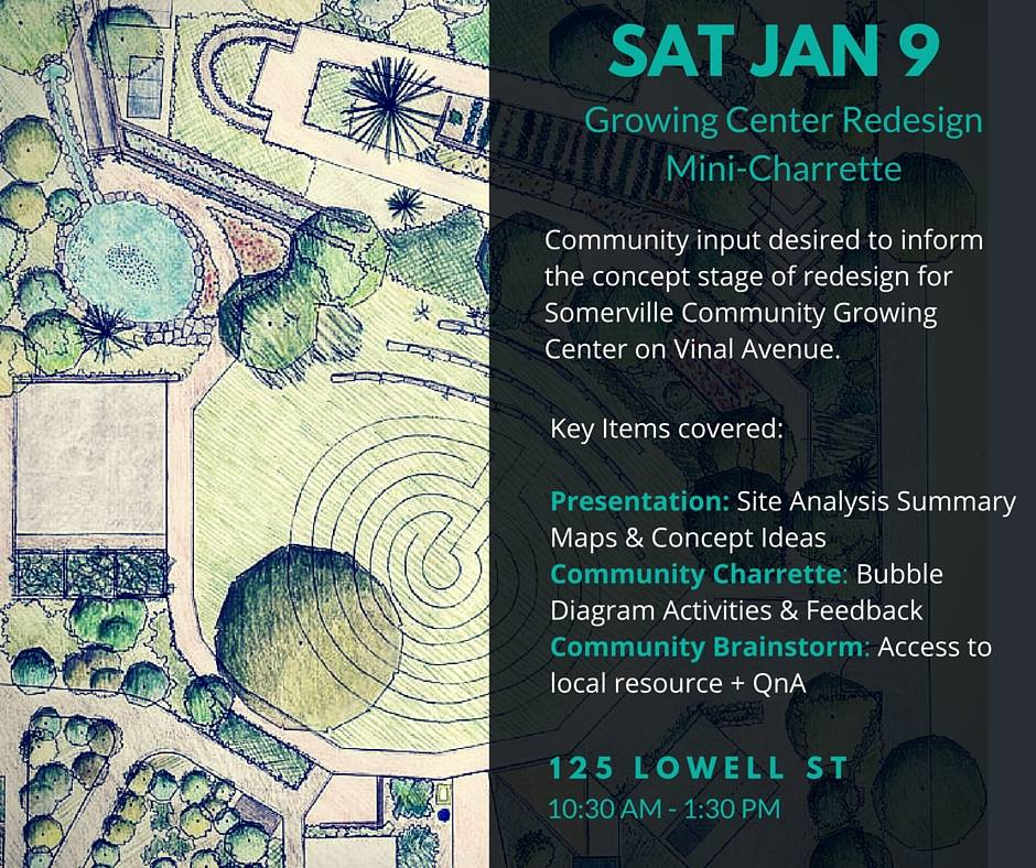 Event Poster: Courtesy of Somerville Community Growing Center