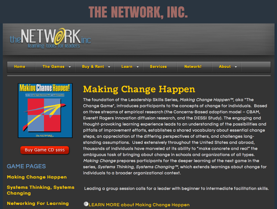THE NETWORK INC WEBSITE