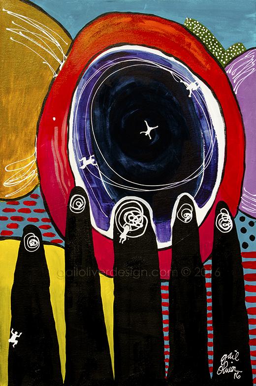 """The Return, 24"""" X 36"""" Acrylic on Canvas"""