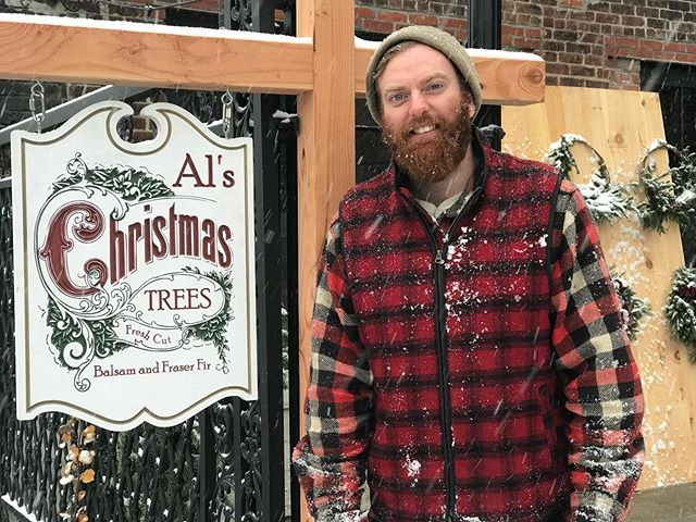"""ANNOUNCEMENT: Occasionally you have to take a step back in order to move forward.  After moving the tree lot from Watertown to Worcester in 2014, we fell in love with the local businesses that welcomed us, the community that showed up to support us, and the opportunity that the Canal District handed to us.  Over the first couple of years when customers would ask if we grew the trees, we'd answer with """"that's the dream, but not yet."""" The idea of owning a farm felt improbable, so the next best thing was to create as similar of an experience as finding a perfect tree in the country in the hustle and bustle of the city.  We feel lucky to have been a part of the holidays in Kelley Square for the past 5 years and watch the district grow and thrive.  We've watched business leaders and passionate community members breath life into the neighborhood.  They've showed us the importance of investing in the place in which you are rooted.  Along with their transition into the next phase of Worcester's growth, we are transitioning our business to our own neighborhood, at our own farm, and in our home community of West Brookfield.  Though Al will still be the guy tying trees to cars in his overalls, we'll operate under our business name,  Bell Brook Farm.  The good news is, we aren't far from Worcester, and we have a lot of great businesses and holiday activities along the way that are worth the trek.  Please follow along with us @bellbrookfarm for more on our holiday plans and year round activities.  Thank you Worcester for being a part of our journey and watching us grow into the farm we had always hoped to find."""