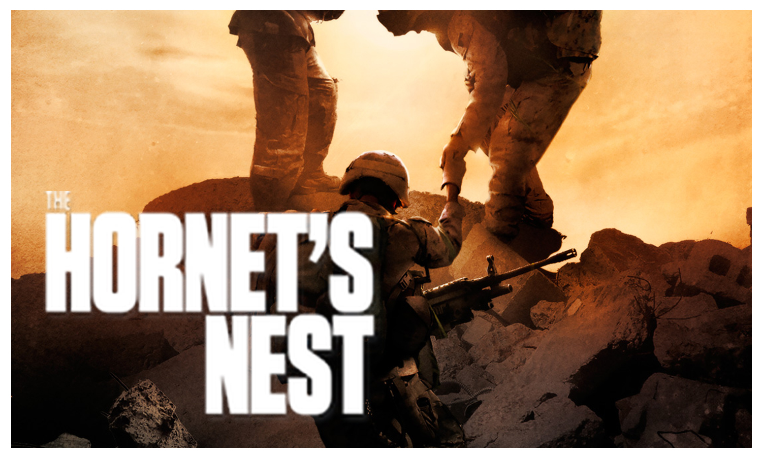 Journalist Mike Boettcher takes his son to the war zone in Afghanistan, covering U.S. Combat Troops on the front lines. What starts out as an effort to reconnect with his son, becomes a remarkable true story and fight for survival for all.    www.thehornetsnestmovie.com