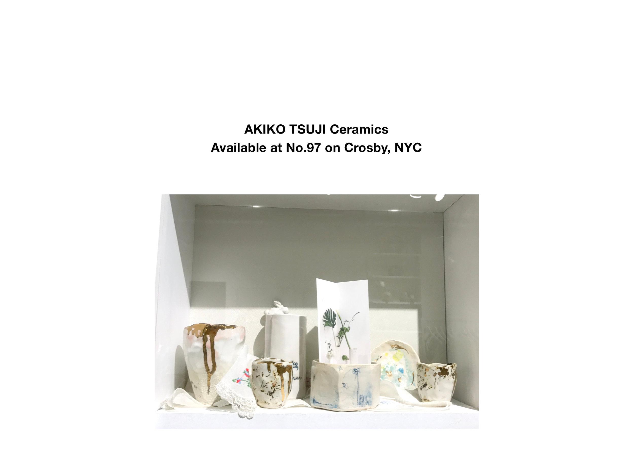 Hand built ceramic wares are now available at No.97 on Crosby! Cups and dishes with 22k gold luster are also available.
