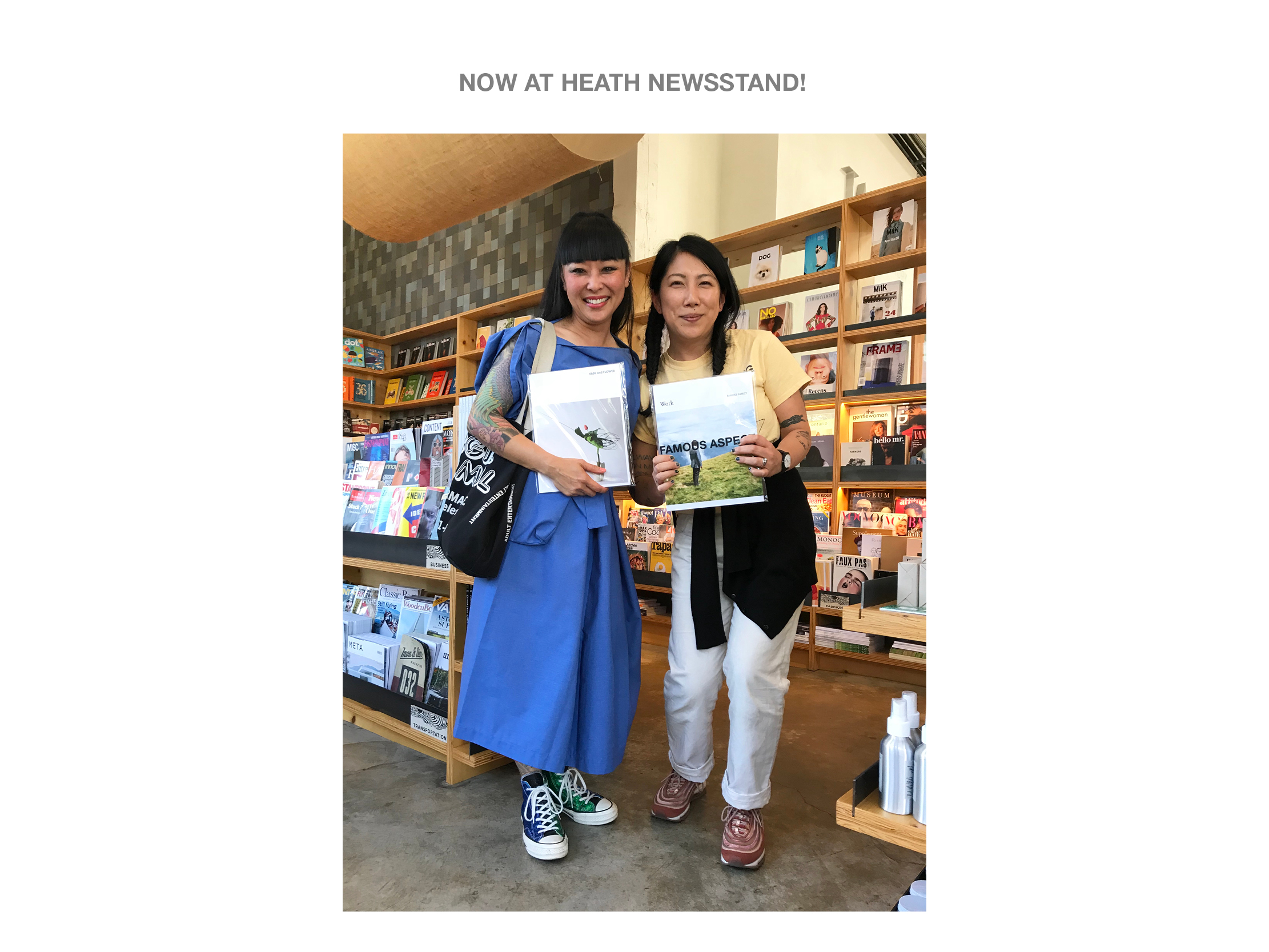 """VASE and FLOWER"" book and FAMOUS ASPECT NO.5 the 20th Anniversary Issue are now at Heath Newsstand."