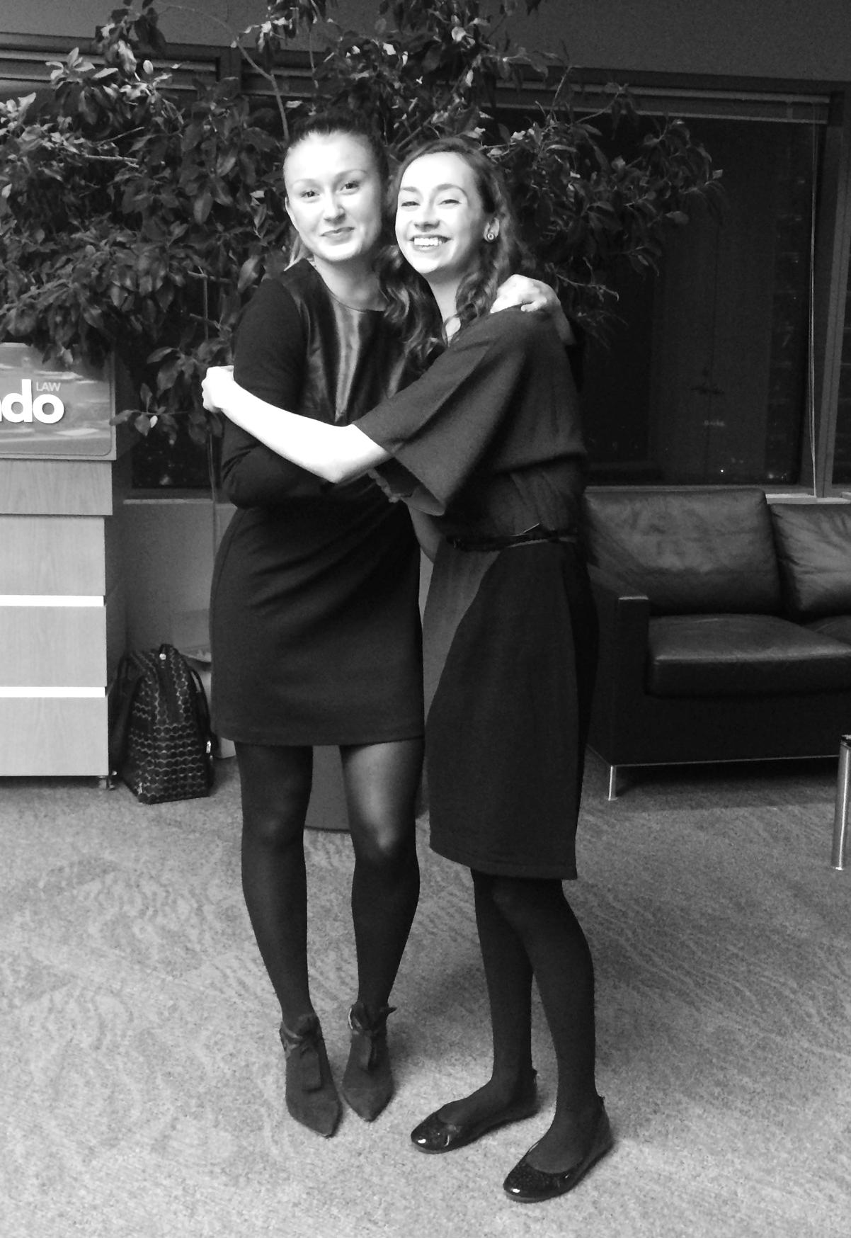 Athena Leadership Director of Funding Kayla Dickin with 2015/2016 Leader of Tomorrow Scholarship Recipient Jesslyn Janssen.
