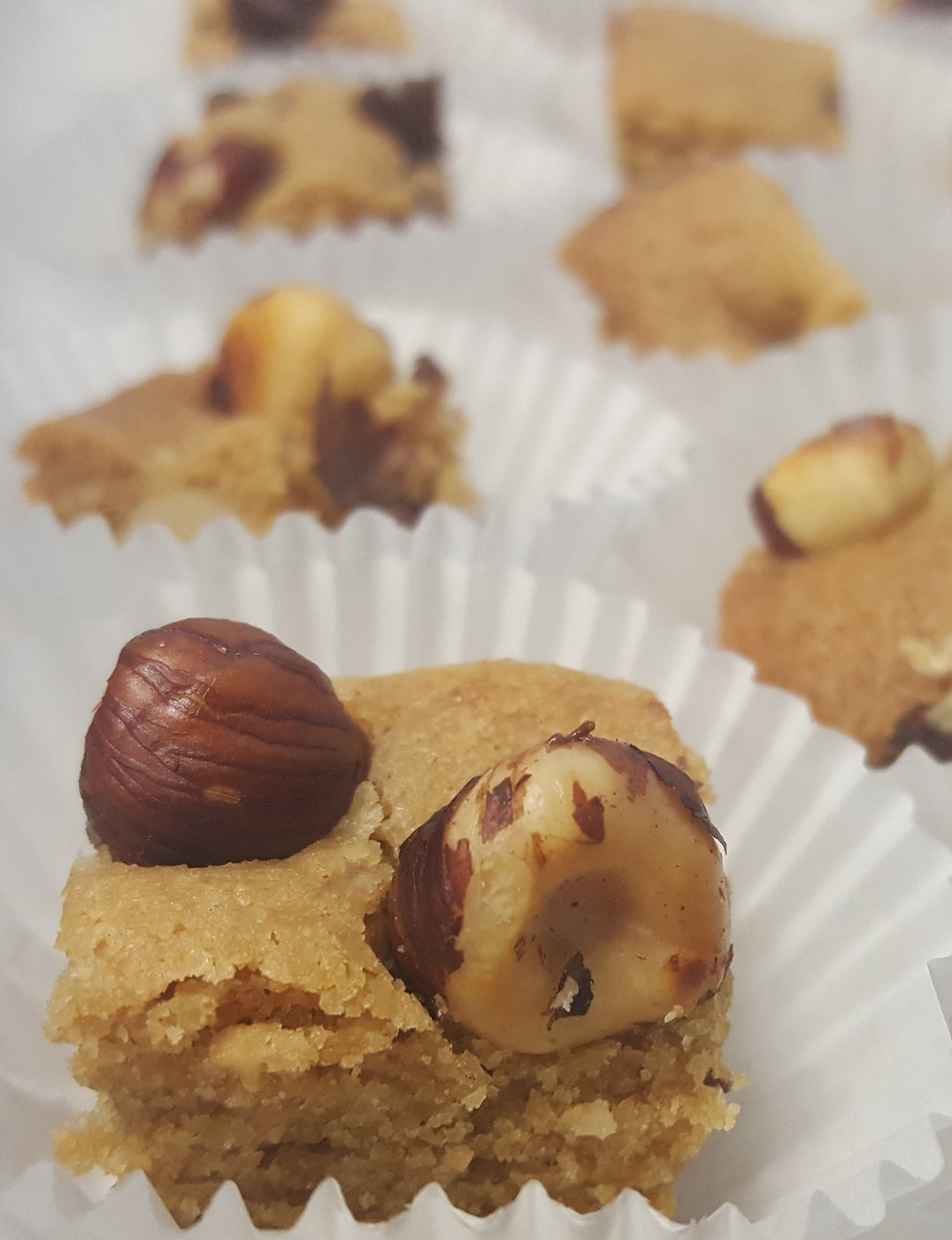 Peanut Butter Hazelnut Blondies