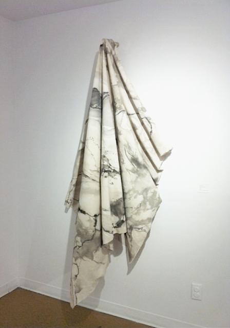 """Marble; XL"" / Ashley Opperman / Ink on canvas / 5' x 7'"