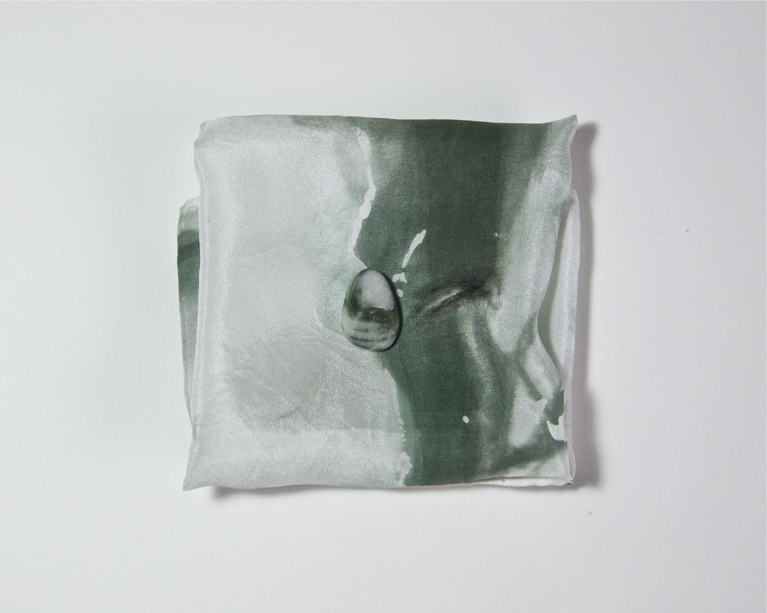 """Elias"" / Ashley Opperman / acrylic on silk / 11' x 11'"