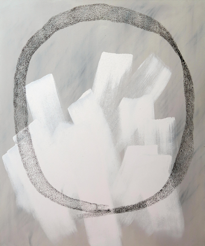 "HONEST PAINTING 01 / Mixed media on canvas / 30""x36"" / Ashley Opperman / 2019"